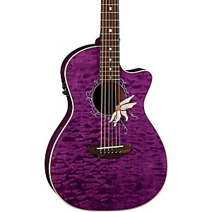 Luna-Guitars-Flora-Series-Passionflower-Parlor-Cutaway-Acoustic-Electric-Guitar-Transparent-Purple