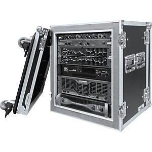 Road-Ready-RR12UADSW-12U-Deluxe-Shock-Mount-Amplifier-Rack-Case-Black