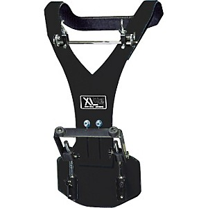 XL-Specialty-Percussion-Aluminum-Vest-Deluxe-Bass-Drum-Carrier-Black