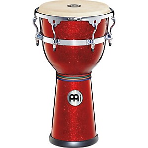 Meinl-Floatune-Series-Fiberglass-Djembe-12--Red-Sparkle