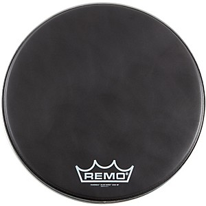 Remo-Black-Suede-PowerMax-Series-Bass-Drumhead-with-Crimplock-matte-black-14-