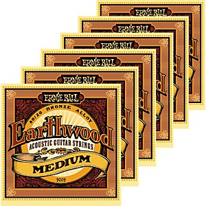 Ernie-Ball-2002-Earthwood-80-20-Bronze-Medium-Acoustic-Guitar-Strings-6-Pack-Standard