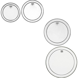 Remo-Pinstripe-Clear-4-piece-Tom-Drumhead-Pack-Standard