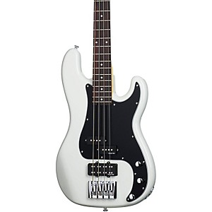 Schecter-Guitar-Research-Diamond-P-Custom-Electric-Bass-Guitar-Vintage-White