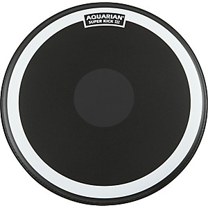 Aquarian-Super-Kick-III-Black-Drumhead-18-inch