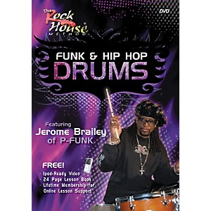 Rock-House-Funk---Hip-Hop-Drums-Featuring-Jerome-Brailey-of-P-Funk--DVD-Book--Standard
