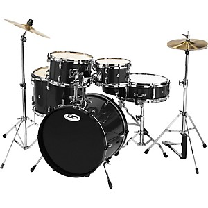 Sound-Percussion-5-Piece-Junior-Drum-Set-with-Cymbals-Black
