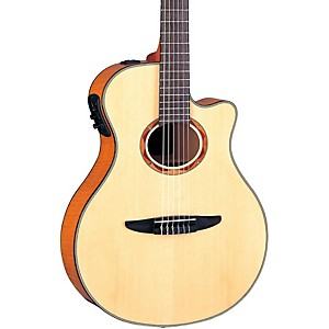 Yamaha-NTX900FM-Acoustic-Electric-Classical-Guitar-Flamed-Maple