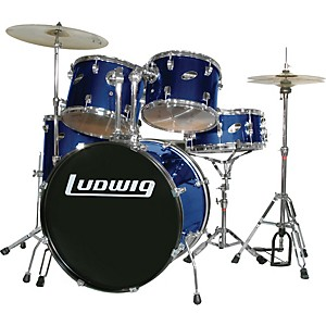 Ludwig-Accent-Combo-with-Zildjian-ZBT-Cymbal-Set-Blue