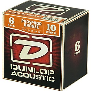 Dunlop-Phosphor-Bronze-Acoustic-Guitar-Strings-Xtra-Light-6-Pack-Standard
