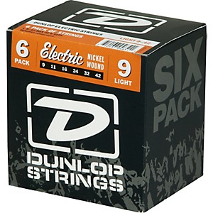 Dunlop-Nickel-Plated-Steel-Electric-Guitar-Strings-Light-6-Pack-Standard