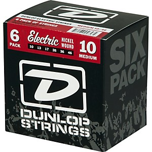 Dunlop-Nickel-Plated-Steel-Electric-Guitar-Strings-Medium-6-Pack-Standard