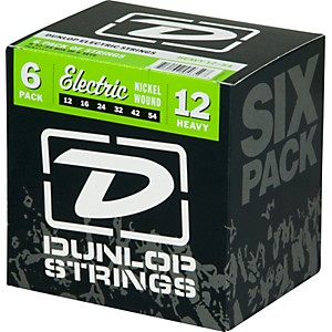 Dunlop-Nickel-Plated-Steel-Electric-Guitar-Strings-Heavy-6-Pack-Standard