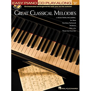 Hal-Leonard-Great-Classical-Melodies---Easy-Piano-CD-Play-Along-Volume-21-Book-CD-Standard