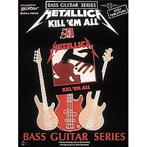 Cherry-Lane-Metallica---Kill--em-All-Bass-Guitar-Series-Tab-Songbook-Standard