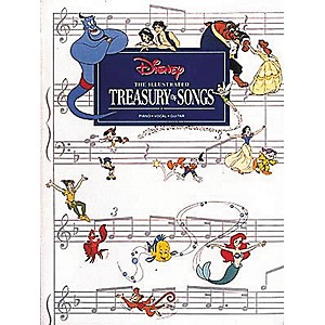 Hal-Leonard-New-Illustrated-Treasury-of-Disney-Songs-Piano--Vocal--Guitar-Songbook--Standard