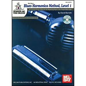 Mel-Bay-Blues-Harmonica-Method--Level-1-Book-and-CD-Standard