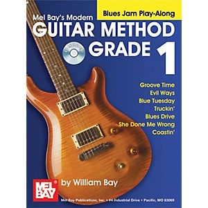 Mel-Bay-Modern-Guitar-Method-Grade-1-Blues-Jam-Play-Along-Book-and-CD-Standard