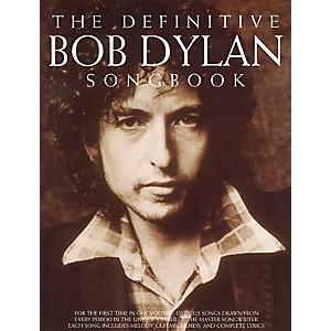 Music-Sales-The-Definitive-Bob-Dylan-Piano--Vocal--Guitar-Songbook--Standard