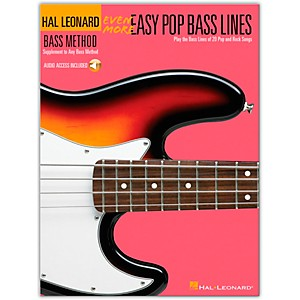 Hal-Leonard-Even-More-Easy-Pop-Bass-Lines-Book-with-CD-Standard