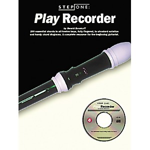 Music-Sales-Step-One--Play-Recorder--Book-CD--Standard