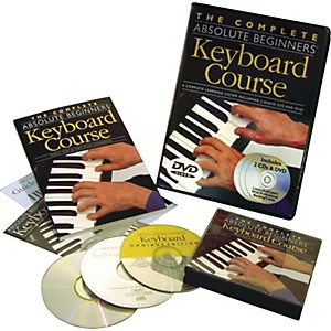 Music-Sales-Complete-Absolute-Beginners-Keyboard-Couse--Book-CD-DVD--Standard