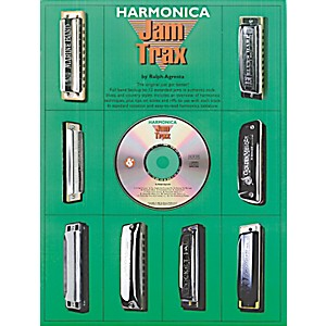 Music-Sales-Harmonica-Jam-Trax--Book-CD--Standard