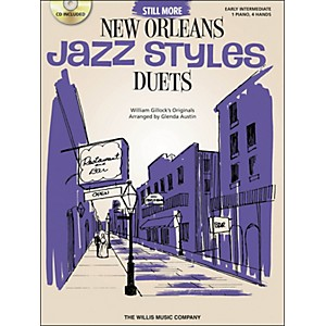 Willis-Music-Still-More-New-Orleans-Jazz-Styles---Piano-Duets--Early-Intermediate-1-Piano-4-Hands--Book-CD-by-Gle-Standard