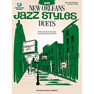 Willis-Music-More-New-Orleans-Jazz-Styles---Piano-Duets--Early-Intermediate-1-Piano-4-Hands--Book-CD-by-Glenda-Au-Standard