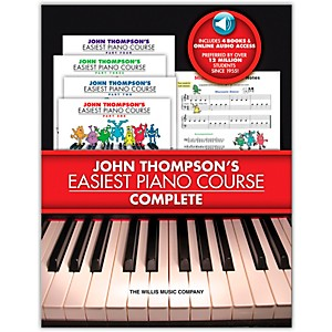 Willis-Music-John-Thompson-s-Easiest-Piano-Course-Complete-boxed-Set--Books-1---4-With-CD-s--Standard