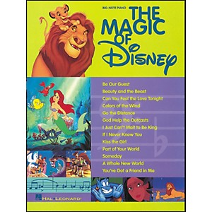 Hal-Leonard-The-Magic-Of-Disney-For-Big-Note-Piano-Standard