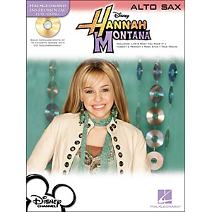 Hal-Leonard-Hannah-Montana-For-Alto-Sax---Instrumental-Play-Along-Book-CD-Pkg-Standard