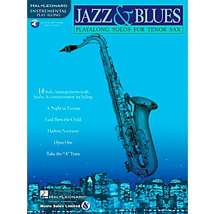 Hal-Leonard-Jazz-And-Blues-Playalong-Solos-For-Tenor-Sax-Book-CD-Standard