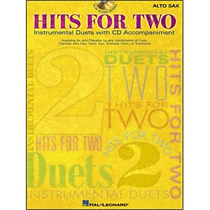 Hal-Leonard-Hits-For-Two--Instrumental-Duets--For-Alto-Sax-Book-CD-Pkg-Standard