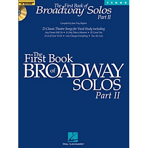 Hal-Leonard-First-Book-Of-Broadway-Solos-Part-II-For-Tenor-Voice-Book-CD-Standard