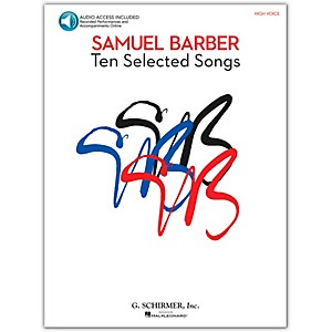 G--Schirmer-Samual-Barber---Ten-Selected-Songs-High-Voice-Book-CD-Standard