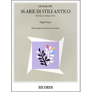 Hal-Leonard-Donaudy---36-Arie-Di-Stile-Antico-For-High-Voice-Standard