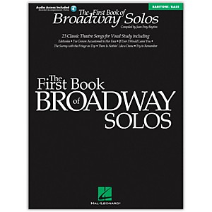 Hal-Leonard-First-Book-Of-Broadway-Solos-Baritone---Bass-Book-CD-Standard