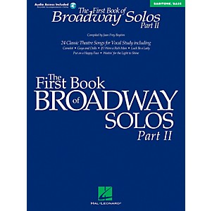 Hal-Leonard-First-Book-Of-Broadway-Solos-Part-II-Baritone---Bass-Book-CD-Standard