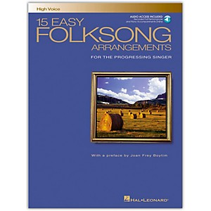 Hal-Leonard-15-Easy-Folksong-Arrangements-For-High-Voice-Book-CD-Standard