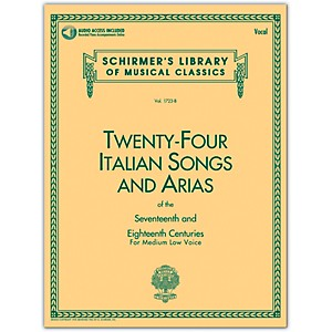 G--Schirmer-24-Italian-Songs---Arias-Medium-Low-Book-CD-Standard