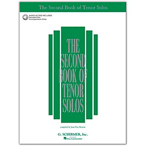 G--Schirmer-Second-Book-Of-Tenor-Solos-Book--2CD-Pkg-Standard