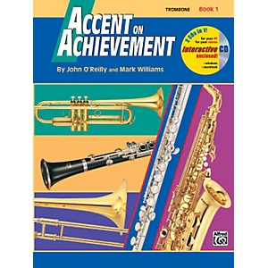 Alfred-Accent-on-Achievement-Book-1-Trombone-Book---CD-Standard