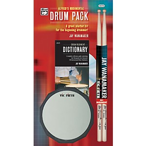 Alfred-Rudimental-Drum-Pack-Handy-Guide-CD-Drum-Pad---Sticks-Standard