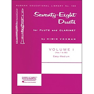Hal-Leonard-Rubank-78-Duets-For-Flute-And-Clarinet-Vol-1-Easy-Medium-Standard