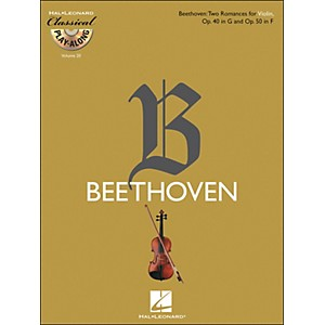 Hal-Leonard-Beethoven--Two-Romances-For-Violin--Op--40-In-G---Op--50-In-F---Clsply--Book-CD--Vol-20-Standard