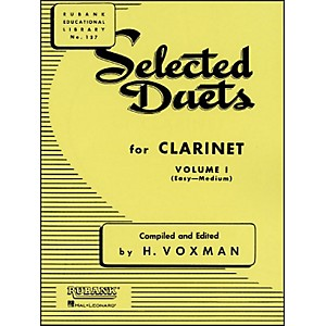 Hal-Leonard-Rubank-Selected-Duets-For-Clarinet-Vol-1-Easy-Medium-Standard