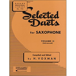 Hal-Leonard-Rubank-Selected-Duets-For-Saxophone-Vol-2-Advanced-Standard