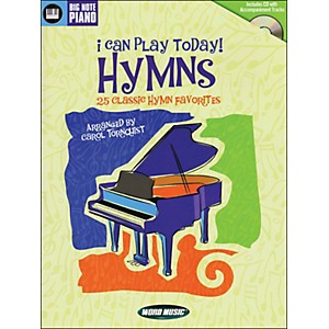 Word-Music-I-Can-Play-Today--Hymns--Book-CD-arranged-for-easy-piano-Standard
