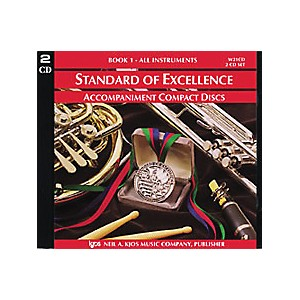 KJOS-Standard-Of-Excellence-Book-1-Accompaniment-CD--2-CD-Set--Standard